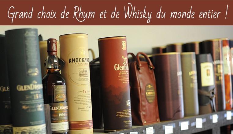 Grand choix de Rhum et de Whisky du monde entier !